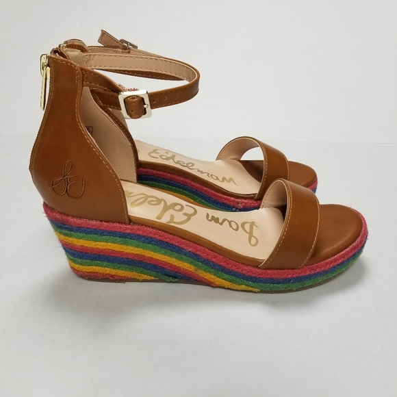 Sam Edelman Other - Sam Edelman Azalia Ray Wedge Sandals Size 4 EUC